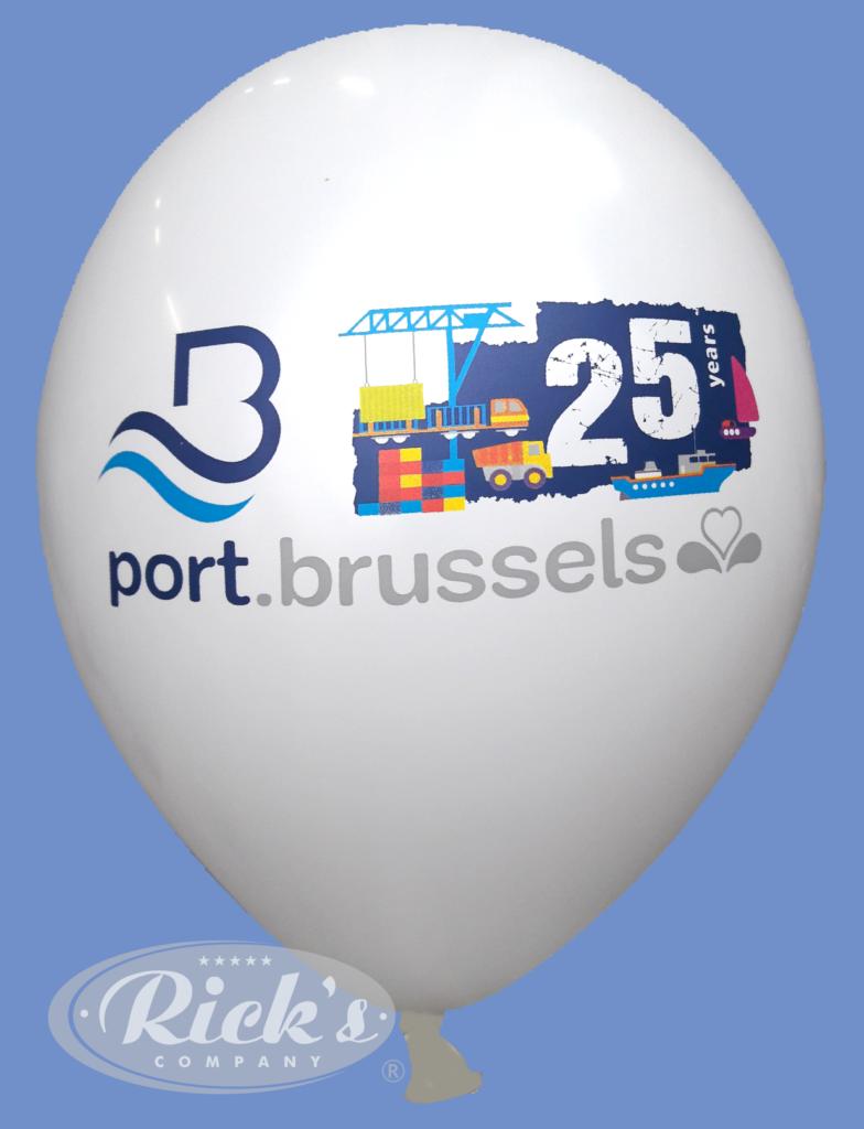ballonvoorbeeld meerkleurendruk haven van brussel