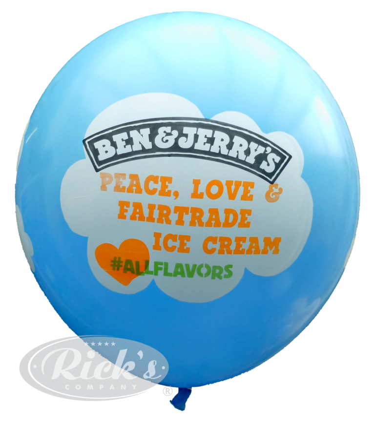 ben&jerrys balloon giant multicolor print