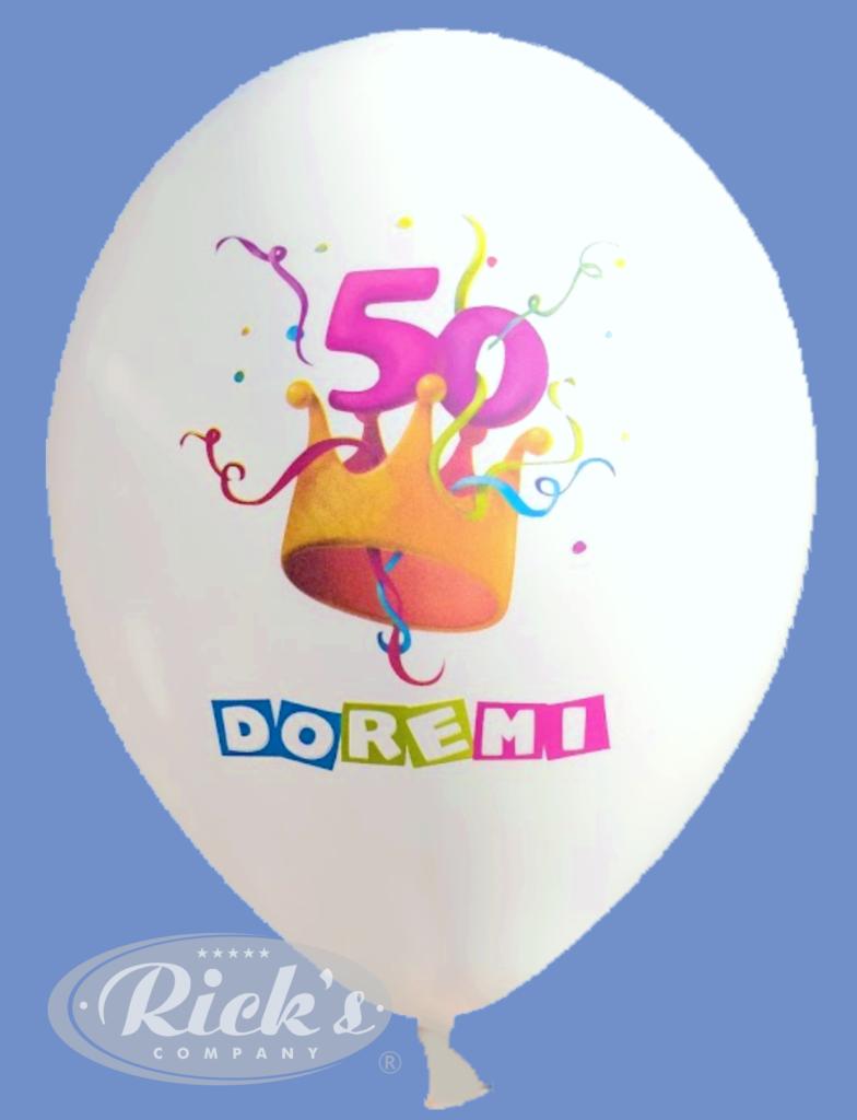 quadri bedrukking op witte ballon meerkleurendruk