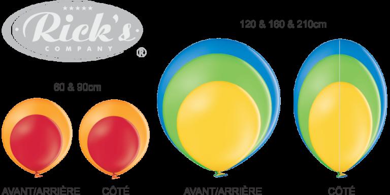 format des ballons géants