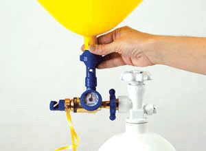 helium fles ontspanner